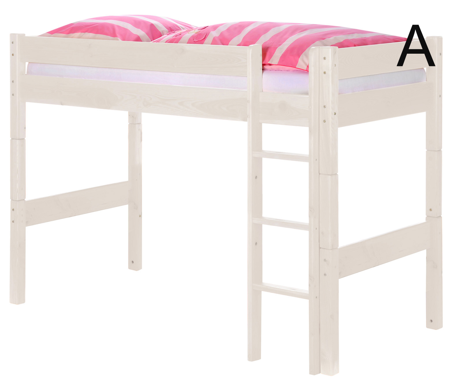 sam kinder hochbett wei optional massivholz wolke7 auf. Black Bedroom Furniture Sets. Home Design Ideas