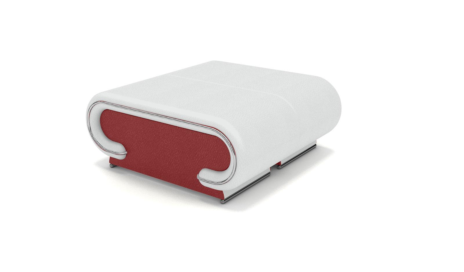wohnzimmer rot weiß:SAM® Wohnzimmer Design Hocker rot weiss Farbauswahl Vigo Bestellware