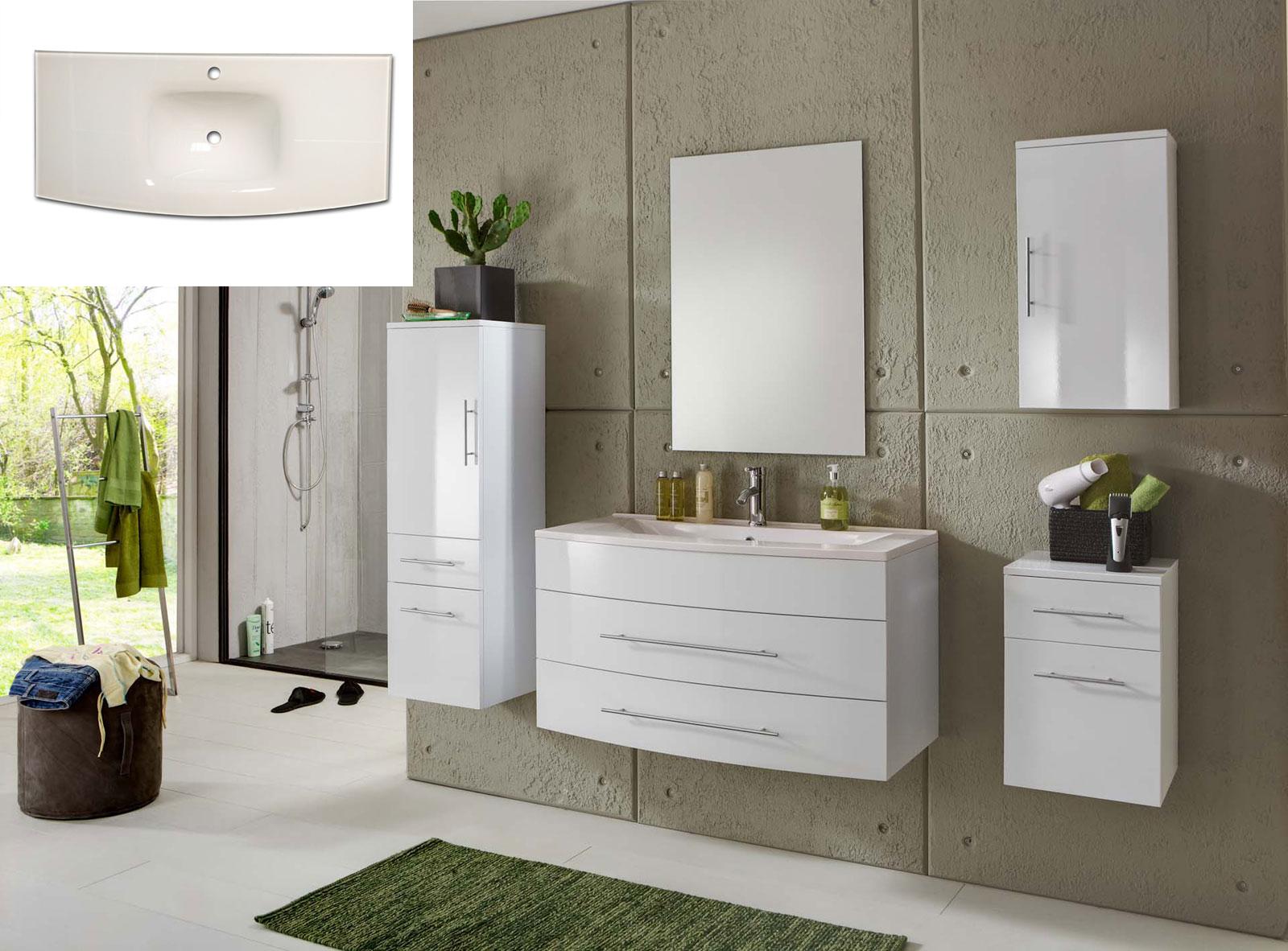 sam 5tlg badm bel set wei 100 cm beckenauswahl basel light auf lager. Black Bedroom Furniture Sets. Home Design Ideas