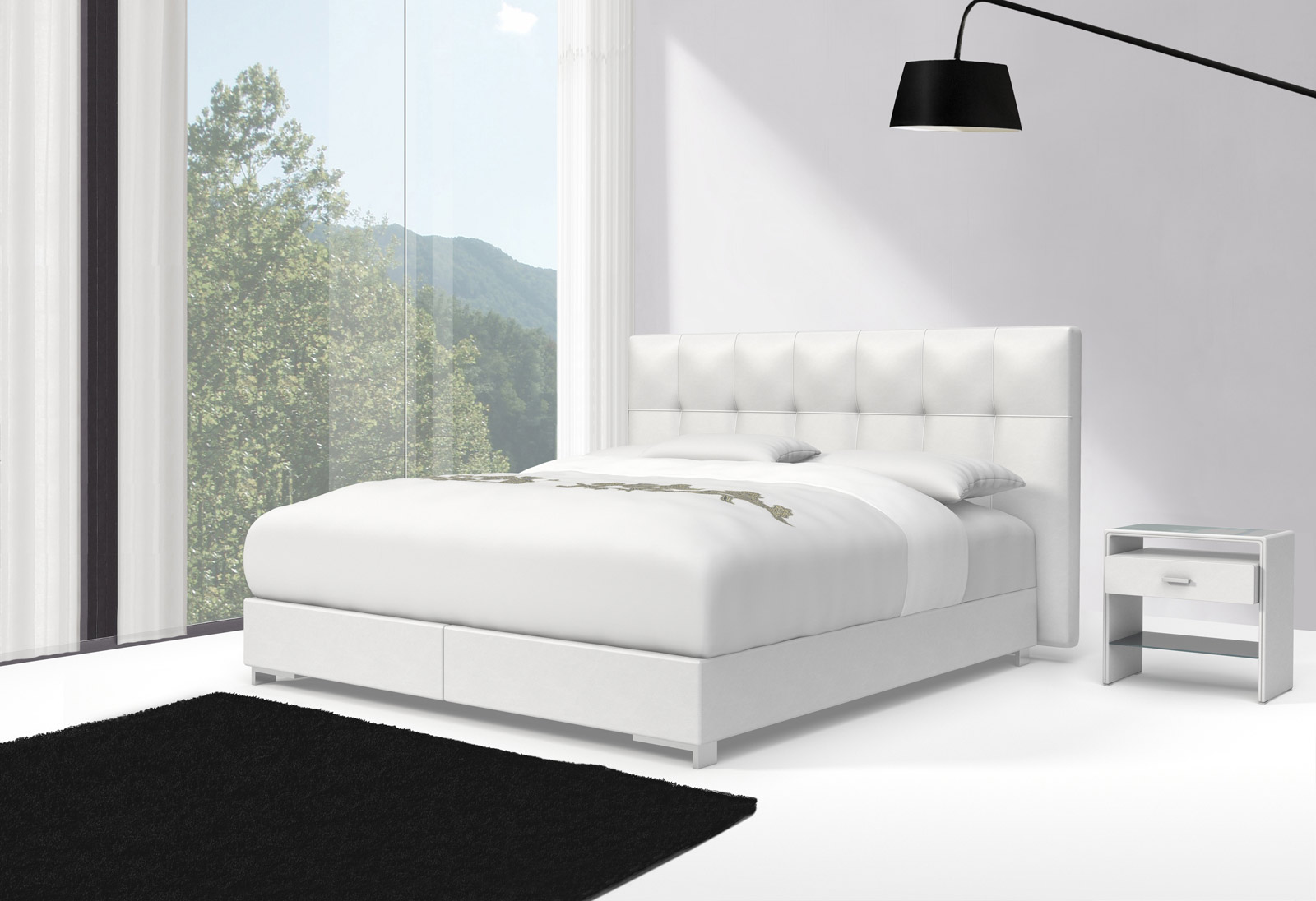 sam design boxspringbett 180 x 200 cm wei zarah toledo 27cm. Black Bedroom Furniture Sets. Home Design Ideas