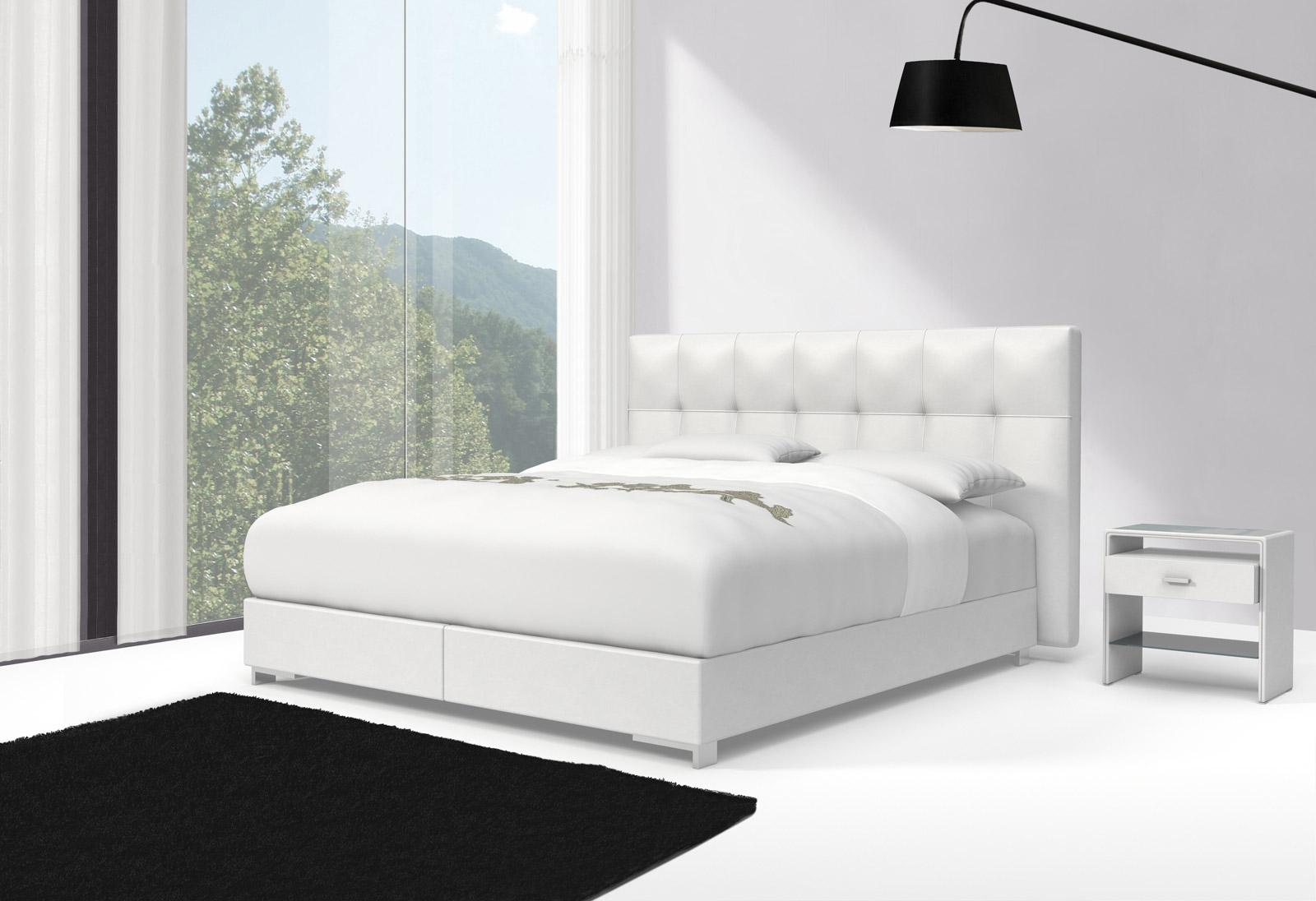 sam design boxspringbett 180 x 200 cm wei zarah toledo 27cm. Black Bedroom Furniture Sets. Home Design Ideas