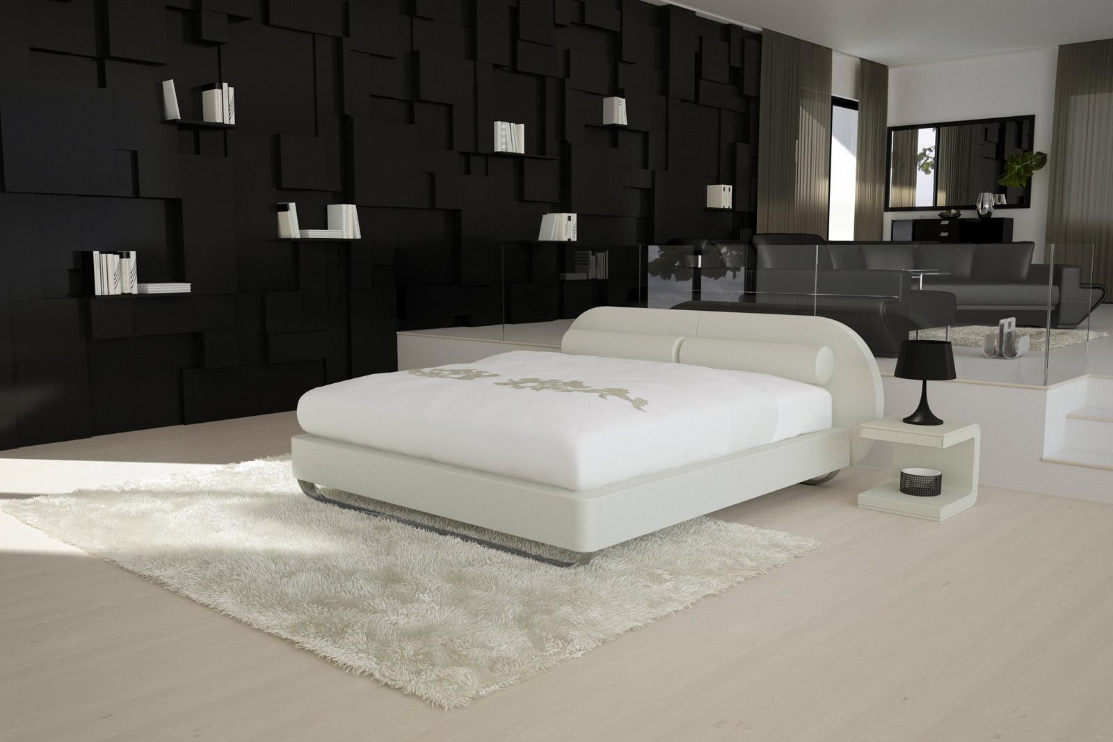 sam design boxspringbett 180 x 200 cm wei moove. Black Bedroom Furniture Sets. Home Design Ideas