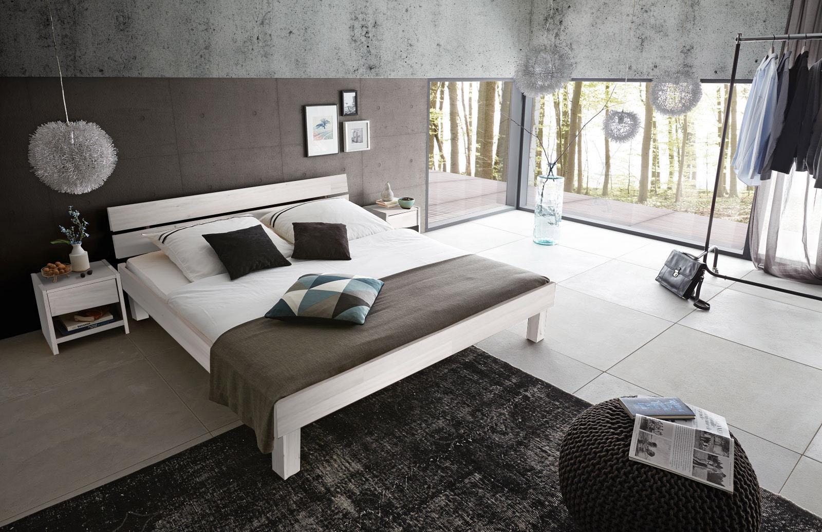 sam holzbett campus buche wei geteiltes kopfteil gr enauswahl. Black Bedroom Furniture Sets. Home Design Ideas