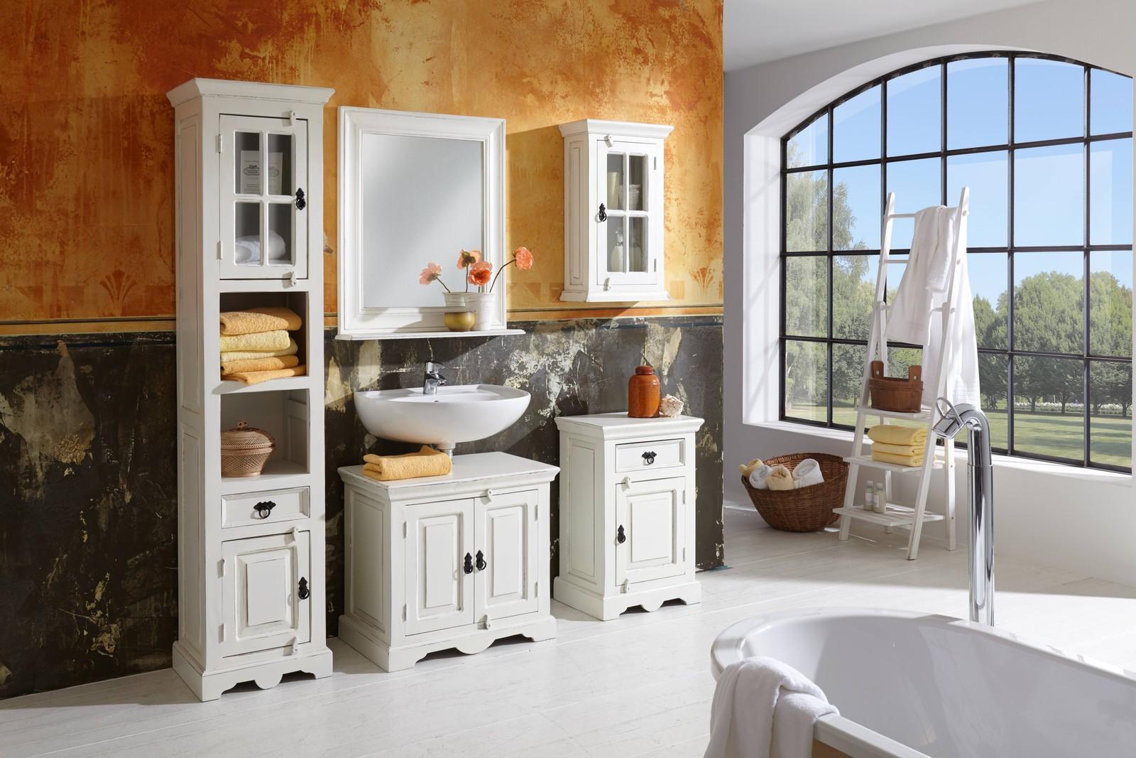 sam bad vintage optik landhaus wei holz 5tlg toledo bestellware. Black Bedroom Furniture Sets. Home Design Ideas