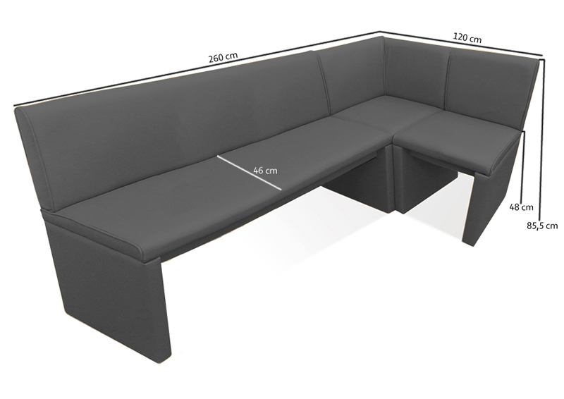sam esszimmer eckbank hellgrau wunsch x 120 cm family ii hilton lager. Black Bedroom Furniture Sets. Home Design Ideas