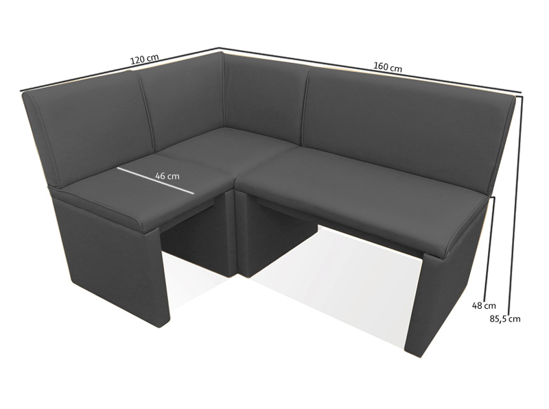 sam esszimmer eckbank hellgrau wunsch x 160 cm family ii hilton lager. Black Bedroom Furniture Sets. Home Design Ideas