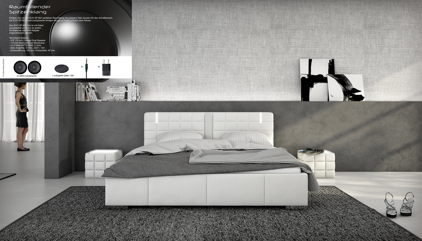 sam polsterbett 180 x 200 cm soundsystem farbauswahl cuenca bestellware. Black Bedroom Furniture Sets. Home Design Ideas