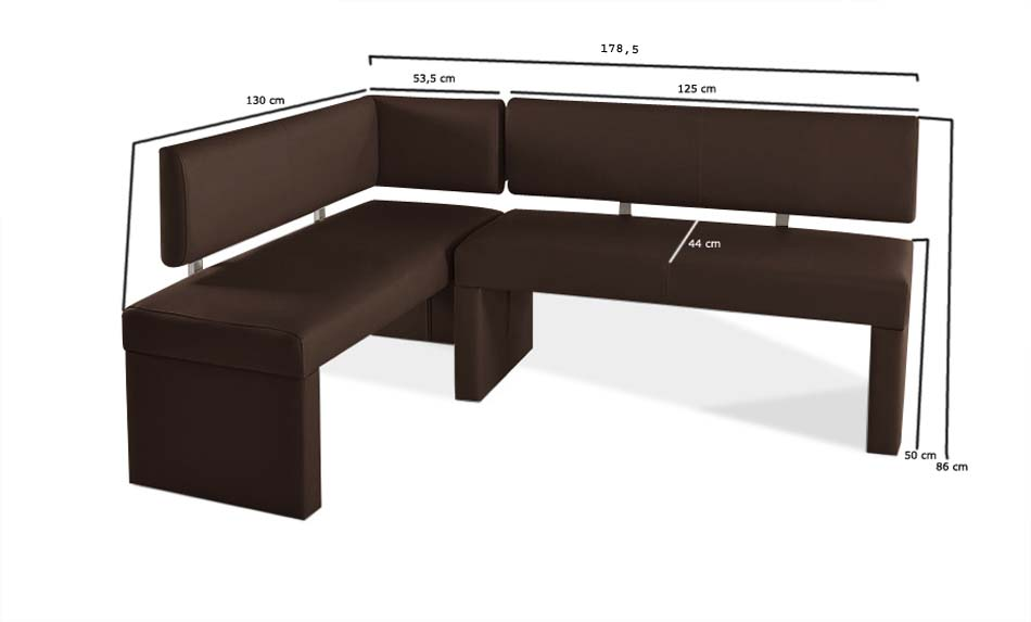 sam recyceltes leder eckbank nach ma braun 130 x cm sabrina auf lager. Black Bedroom Furniture Sets. Home Design Ideas