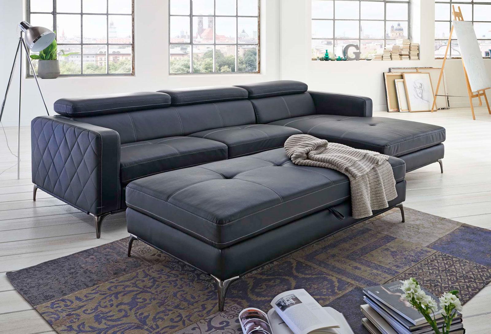 sam schlafsofa anthrazit dario ecksofa rechts auf lager. Black Bedroom Furniture Sets. Home Design Ideas
