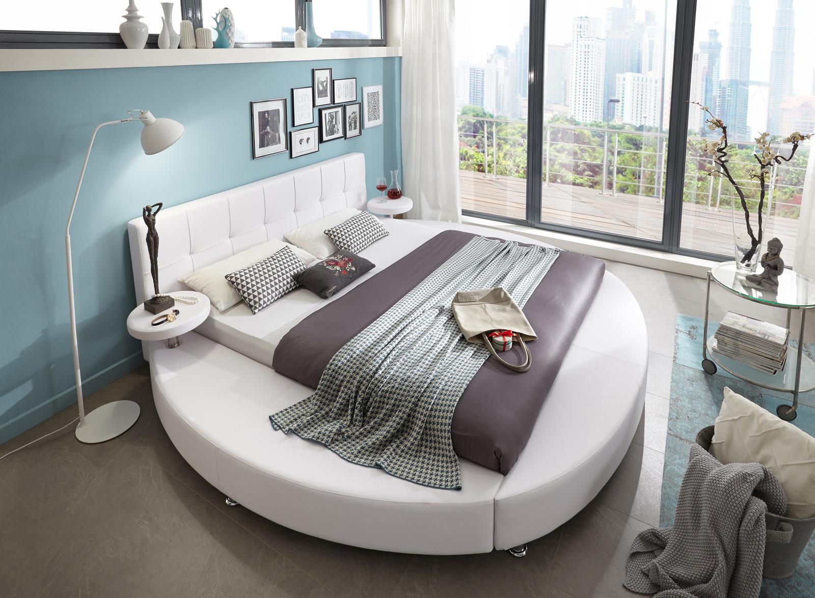 sam rundbett zarah 180 x 200 cm abgesteppt farbauswahl. Black Bedroom Furniture Sets. Home Design Ideas