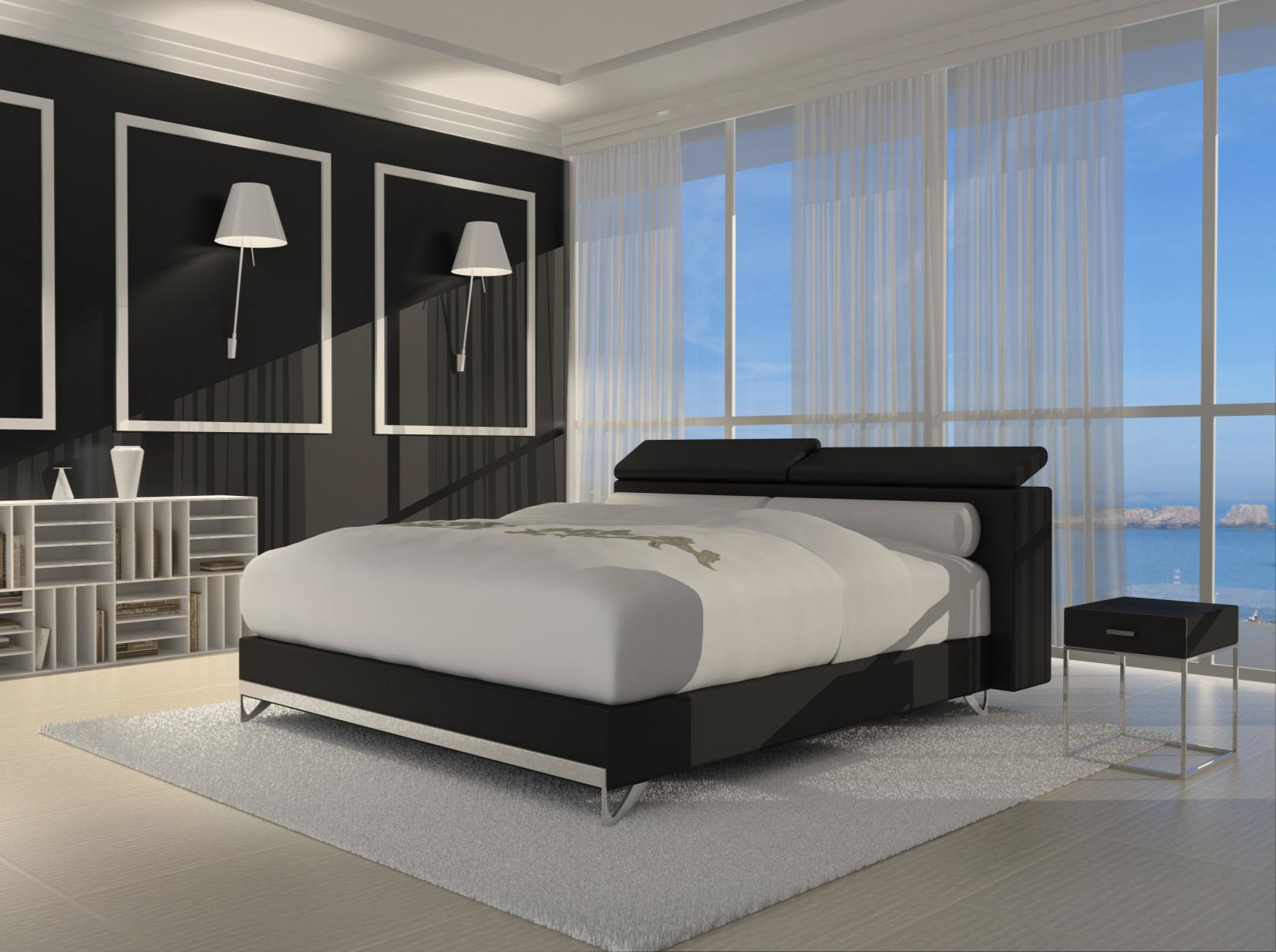 sam design boxspringbett 180 x 200 cm schwarz wendigo opera auf lager. Black Bedroom Furniture Sets. Home Design Ideas