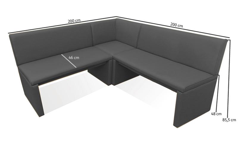 Sam esszimmer eckbank grau 200 cm x wunsch family i for Esszimmer bank 200 cm