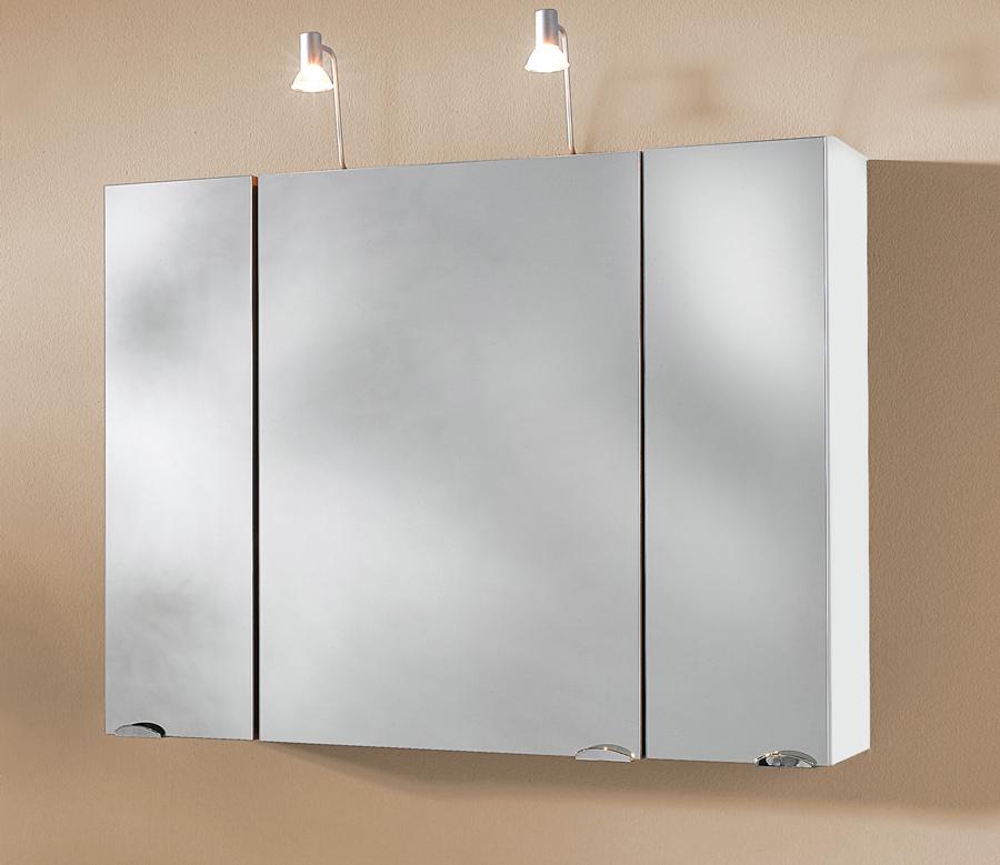 sam badezimmer spiegelschrank halogen 90 cm santana farbauswahl. Black Bedroom Furniture Sets. Home Design Ideas