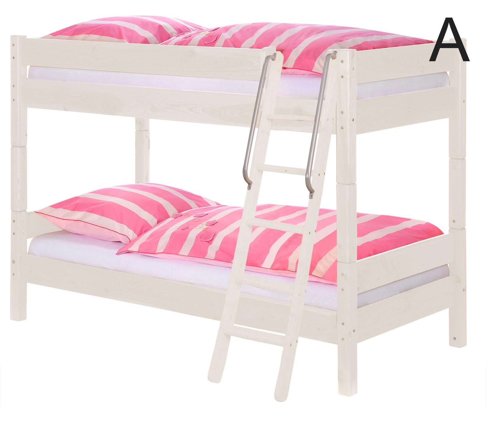 sam kinder etagenbett girl ii wei schr g massiv buche. Black Bedroom Furniture Sets. Home Design Ideas