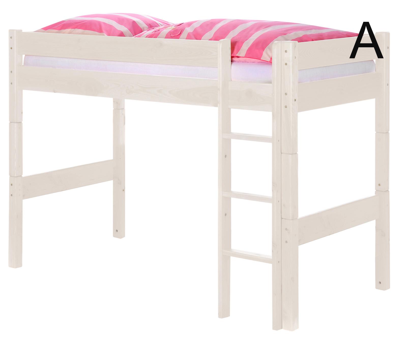sam kinder hochbett wei optional massiv buche wolke7. Black Bedroom Furniture Sets. Home Design Ideas