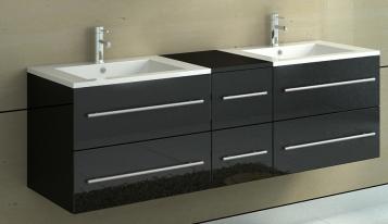 sam badm bel barca neu 5tlg 150 cm spiegelschrank schwarz demn chst. Black Bedroom Furniture Sets. Home Design Ideas