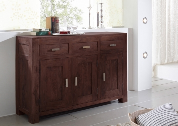 SAM® Kommode Sideboard 130 x 86 cm Akazie massiv tabak Timber 6629 Auf Lager !