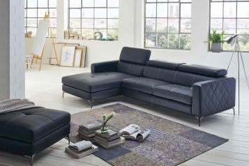 SAM® Ecksofa anthrazit Dario links Auf Lager !