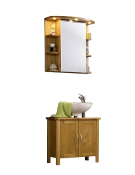 Badmöbel mit Spiegelschrank kaufen bei SAM® | {Spiegelschrank kiefer 97}