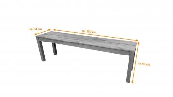 sam g nstige akazie gartenbank 100 fsc 150 cm 3 sitzer. Black Bedroom Furniture Sets. Home Design Ideas