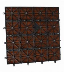 sam terrassenfliesen wpc teakfarben fsc einzel fliese. Black Bedroom Furniture Sets. Home Design Ideas