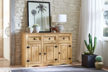 Mexico Schrank Sideboard 132 x 84 cm massiv Kiefer Arizona