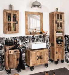 badm belset im used look g nstig kaufen b der von sam. Black Bedroom Furniture Sets. Home Design Ideas