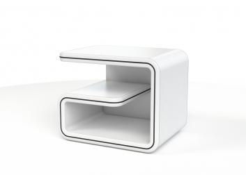 SAM® B Ware 81 Nachtkommode Nachttisch 52 X 40 Cm Weiß / Linie