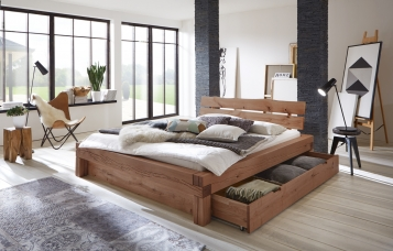 balkenbett g nstig kaufen holzbalkenbetten von sam. Black Bedroom Furniture Sets. Home Design Ideas