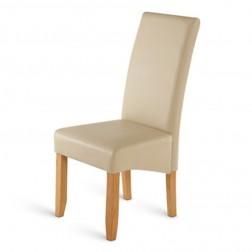 sam polster stuhl recyceltes leder creme buche roma demn chst. Black Bedroom Furniture Sets. Home Design Ideas
