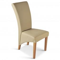 sam polster stuhl recyceltes leder creme buche tarano. Black Bedroom Furniture Sets. Home Design Ideas