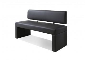 sam sitzbank silas 140 cm recyceltes leder hellgrau. Black Bedroom Furniture Sets. Home Design Ideas