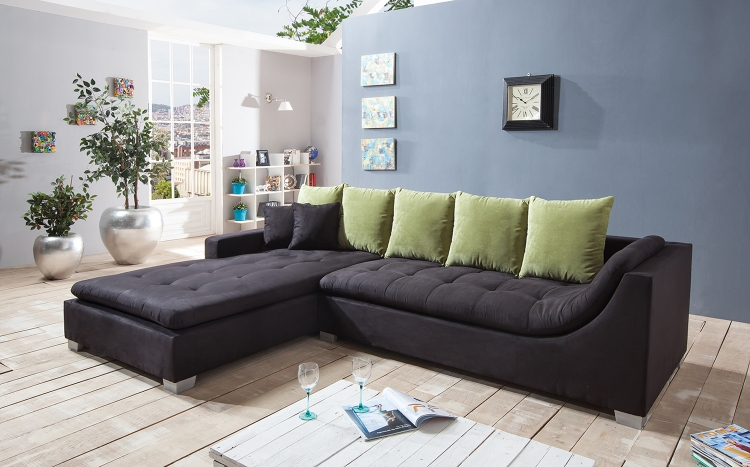 sam ecksofa stoff schwarz sofa villa 200 x 305 cm auf lager 50 rabatt. Black Bedroom Furniture Sets. Home Design Ideas