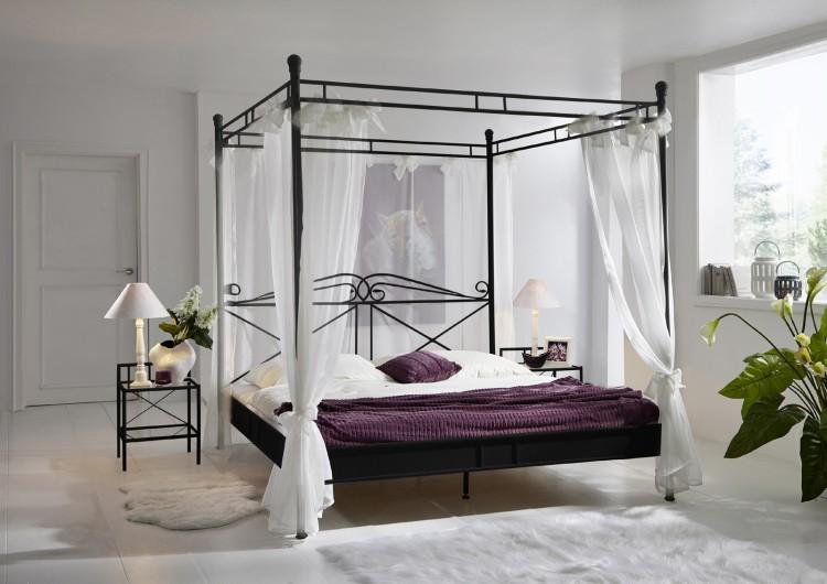 sam design himmelbett 140 cm schwarz venezia auf lager. Black Bedroom Furniture Sets. Home Design Ideas