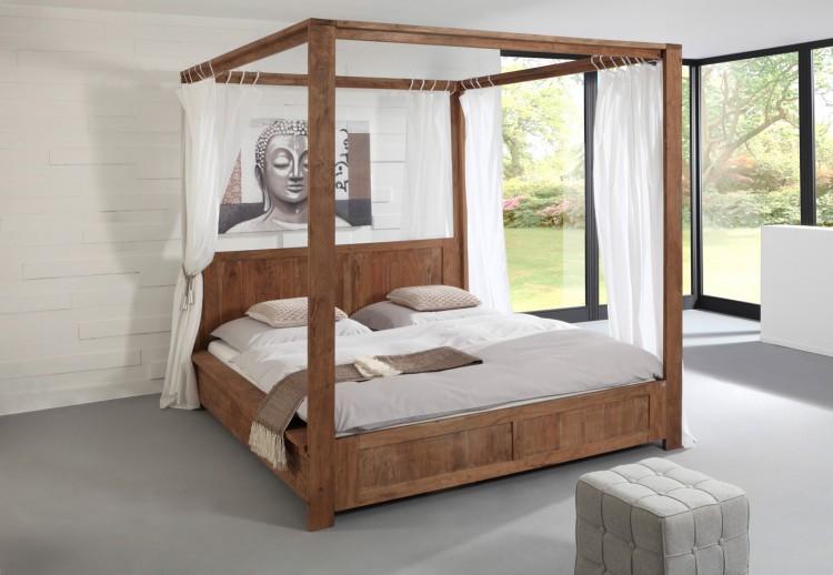 sam himmelbett saber 6687 akazie massiv stone 180 x 200. Black Bedroom Furniture Sets. Home Design Ideas