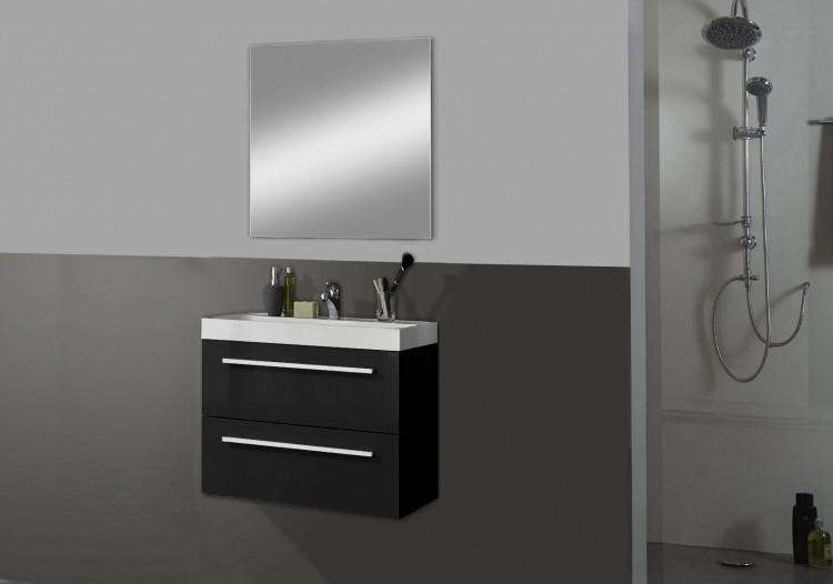 sam 2tlg badezimmer set schwarz 60 cm kwadro auf lager. Black Bedroom Furniture Sets. Home Design Ideas