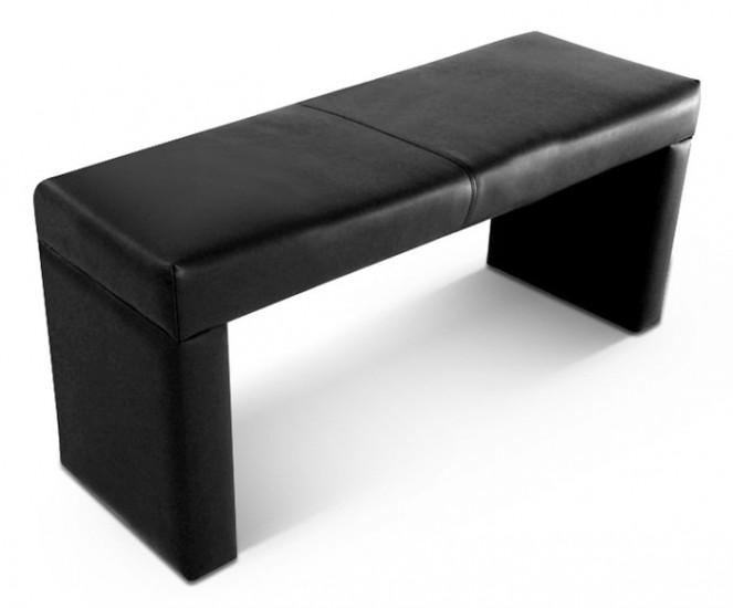 sam esszimmer sitzbank recyceltes leder schwarz 110 cm rico auf lager. Black Bedroom Furniture Sets. Home Design Ideas