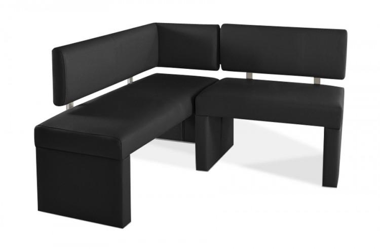 sam eckbank recyceltes leder schwarz 130 cm x cm sofia. Black Bedroom Furniture Sets. Home Design Ideas
