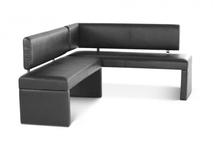 sam esszimmer eckbank recyceltes leder 130 x 180cm grau saana auf lager. Black Bedroom Furniture Sets. Home Design Ideas