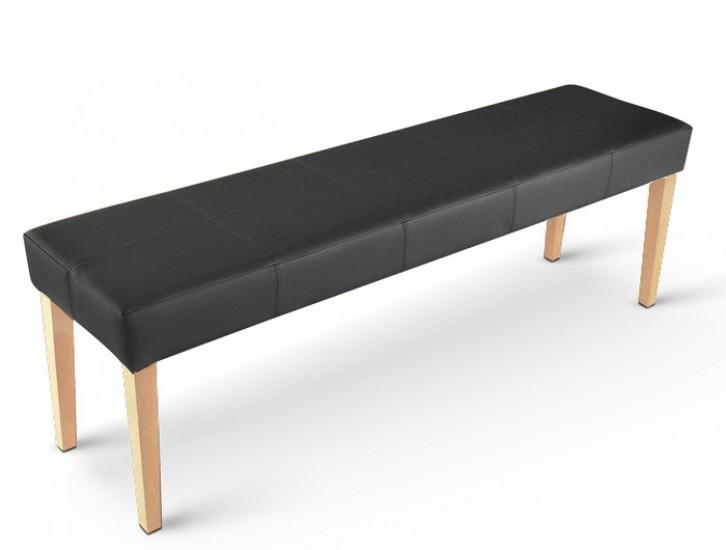 sam sitzbank 145 cm recyceltes leder schwarz buche enzio. Black Bedroom Furniture Sets. Home Design Ideas