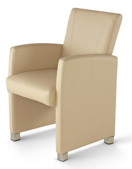 sam design armlehn sessel recyceltes leder creme max auf lager. Black Bedroom Furniture Sets. Home Design Ideas