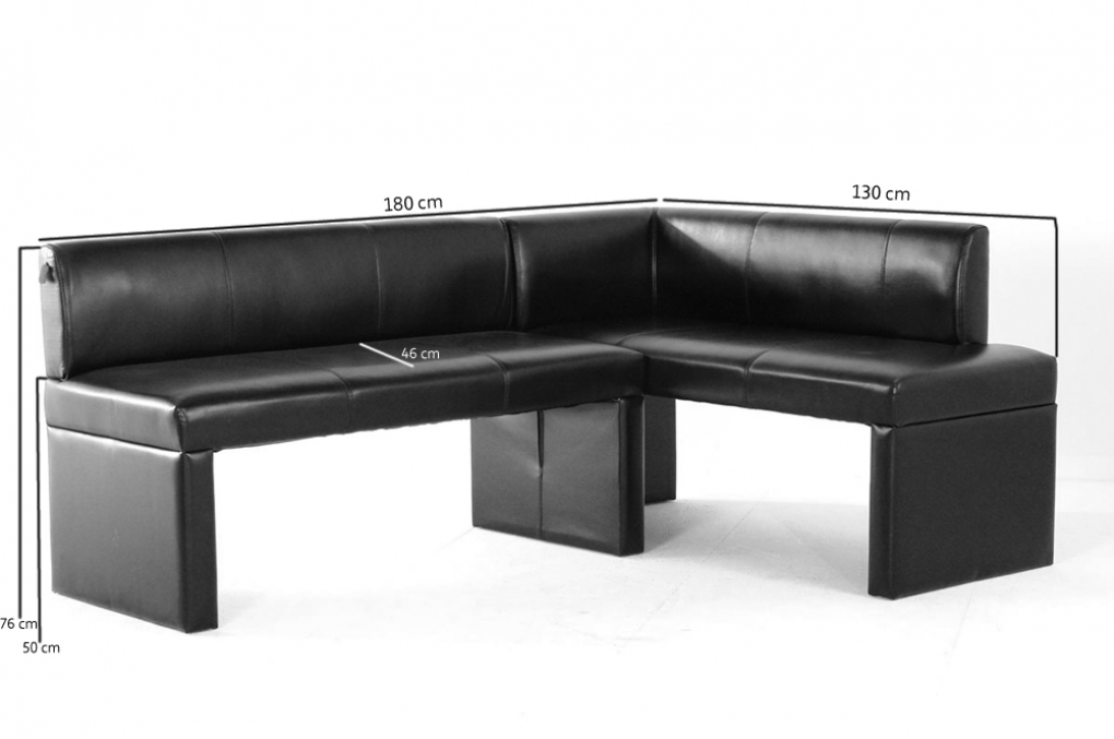 SAM® Design Esszimmer Recyceltes Leder Eckbank Schwarz PARIS I Auf Lager !  Itempropu003d