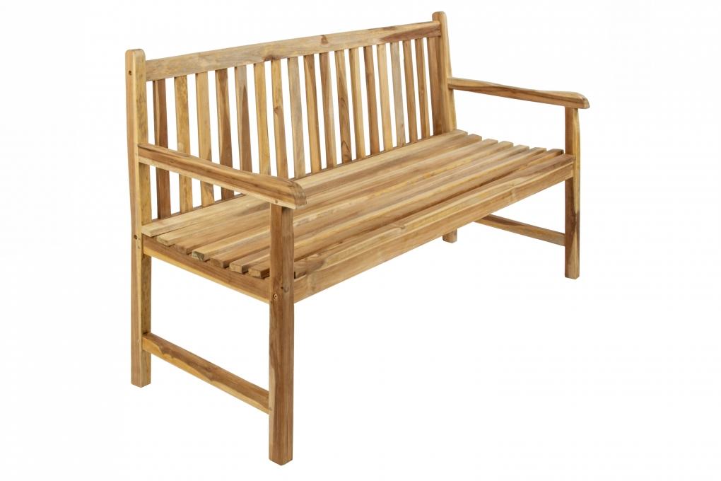 SAM® Gartenbank Teak-Holz 150 cm 3 Sitzer CARACAS