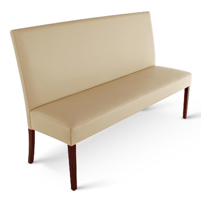 sam esszimmerbank mit lehne 140 cm creme recyceltes leder. Black Bedroom Furniture Sets. Home Design Ideas