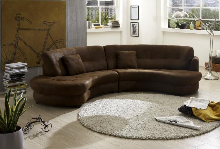 sam ecksofa wildlederoptik gobi braun roma sofa 302 cm auf lager. Black Bedroom Furniture Sets. Home Design Ideas