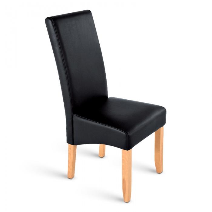 Sam esszimmerstuhl stuhl schwarz recyceltes leder sancho for Esszimmerstuhl schwarz