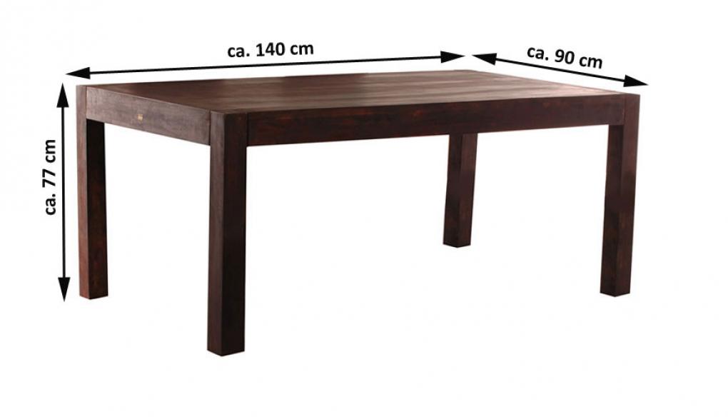 sale esstisch massivholz dunkel 140 x 90 cm sheesham stone wiam. Black Bedroom Furniture Sets. Home Design Ideas