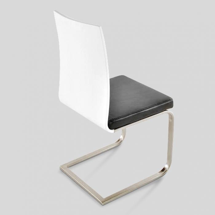sam® esszimmer stuhl weiß schwarz 2.wahl edelstahl lousanne, Esszimmer