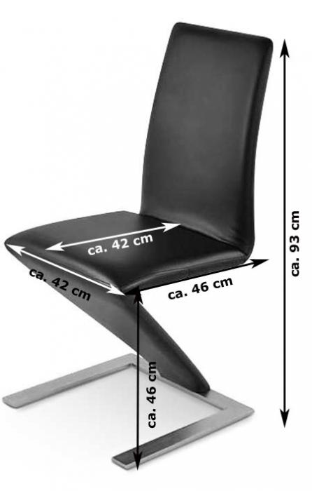 sam freischwinger esszimmerstuhl mit fu gestell schwarz basel. Black Bedroom Furniture Sets. Home Design Ideas