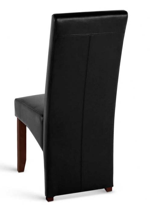 sam esszimmerstuhl stuhl schwarz recyceltes leder silvana. Black Bedroom Furniture Sets. Home Design Ideas